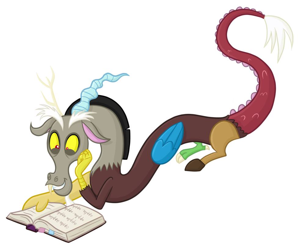 Discord the mane six. Journal clipart reading journal
