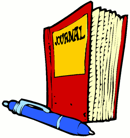 Journal clipart reading journal. Writing cliparts zone