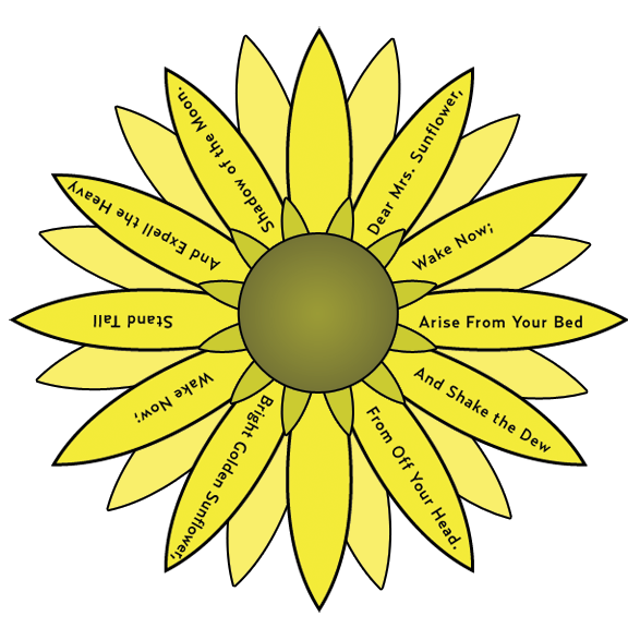 Sunflower by c h. Journal clipart rough draft