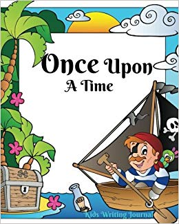 Writer clipart once upon time book. A kids writing journal
