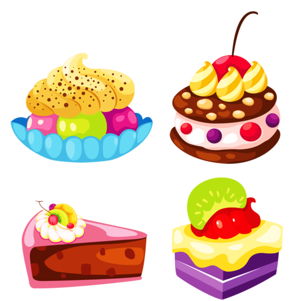 Journal clipart suply. Gateaux tubes food art