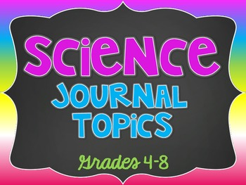Chevron science topics elementary. Journal clipart topic