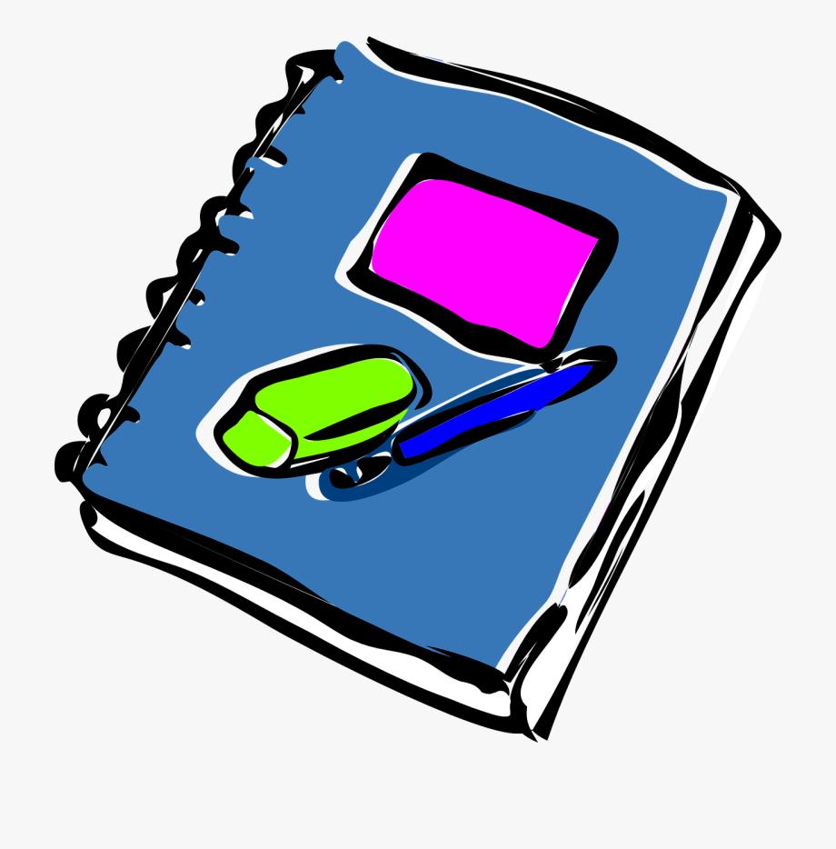 Transparent . Notepad clipart journal pen