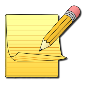 Journal clipart written note. Writing notes free download