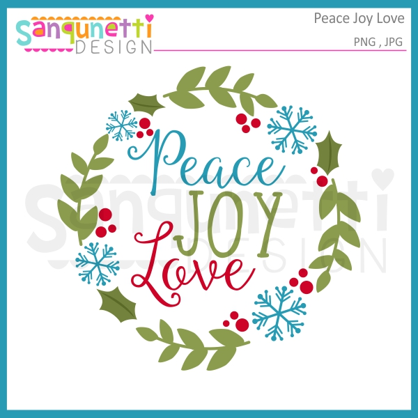 Joy clipart. Sanqunetti design peace love
