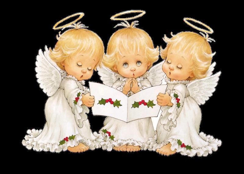 Joy clipart caroling. Cute angel clip art