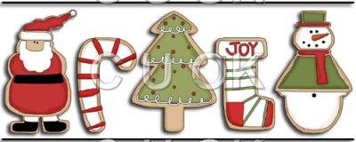 Ref border santa tree. Joy clipart christmas cookie