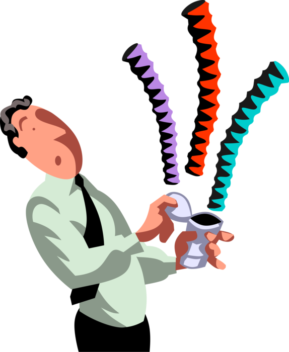 Entrepreneur opens snakes in. Jump clipart elated