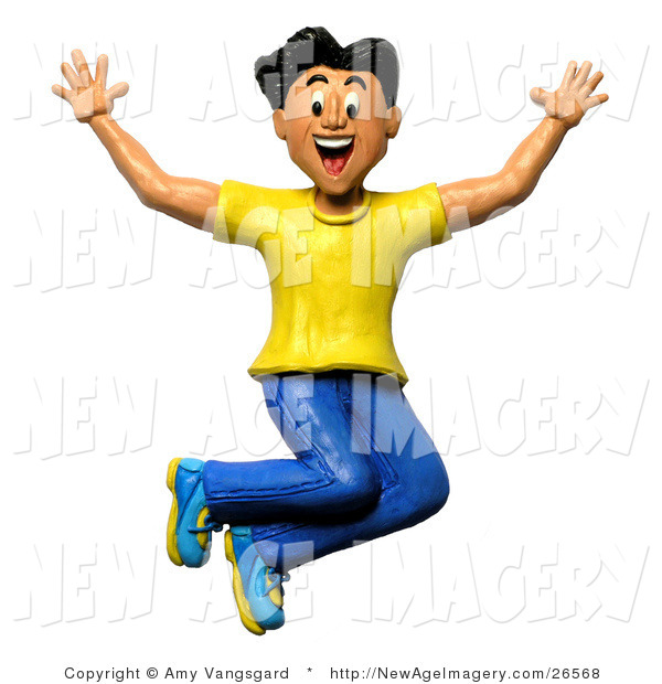 Joy clipart energetic.  d illustration of