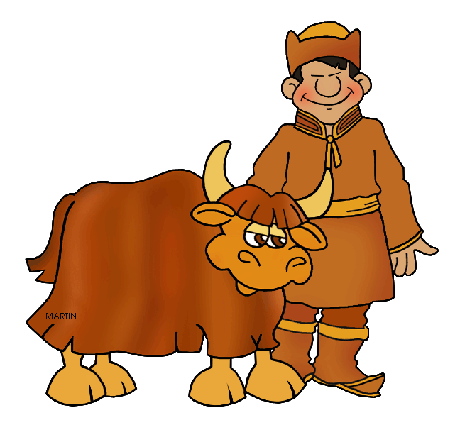 Yak clipart yack. Mongols clip art by