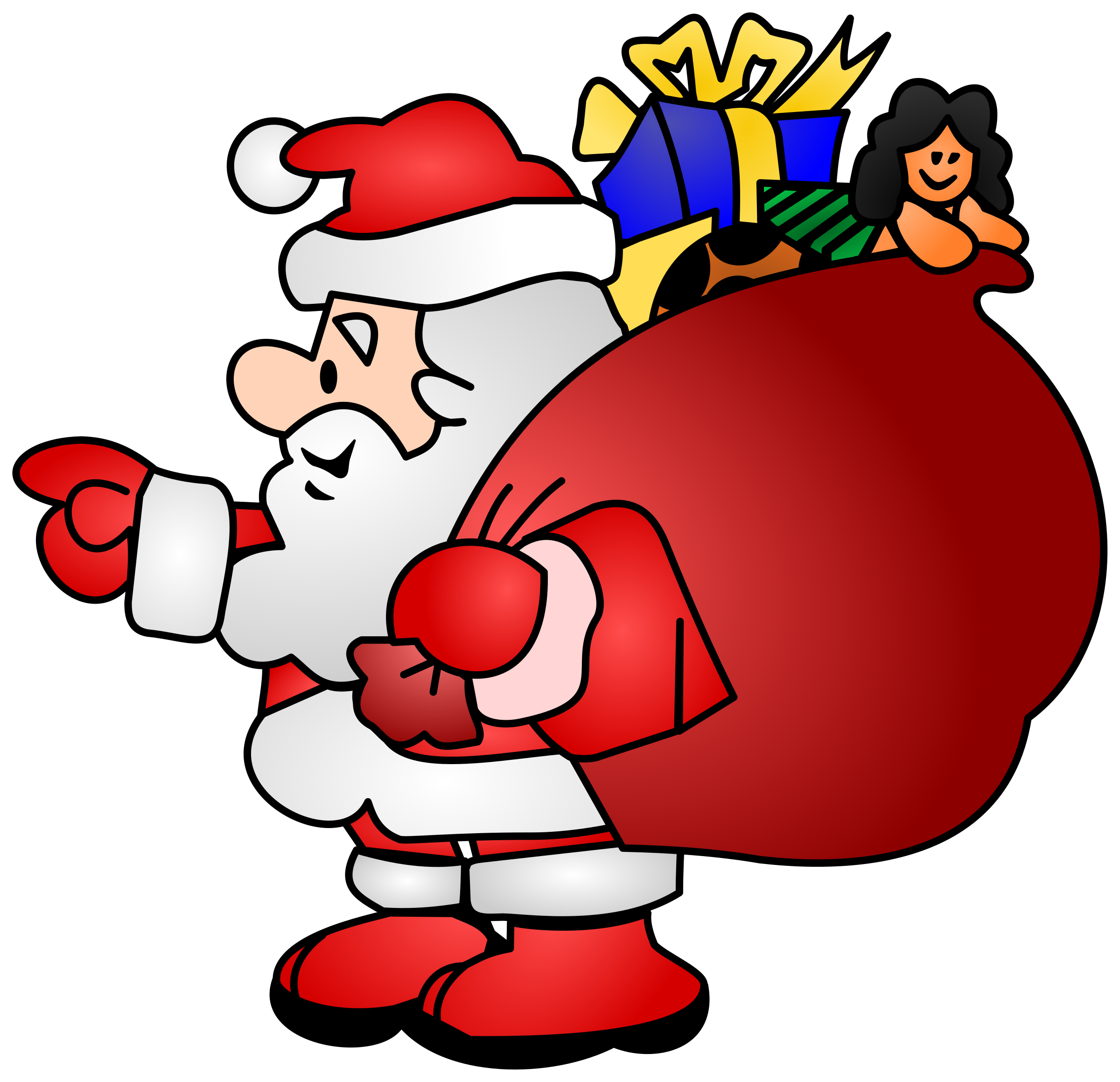 Santa a mother s. Joy clipart hop