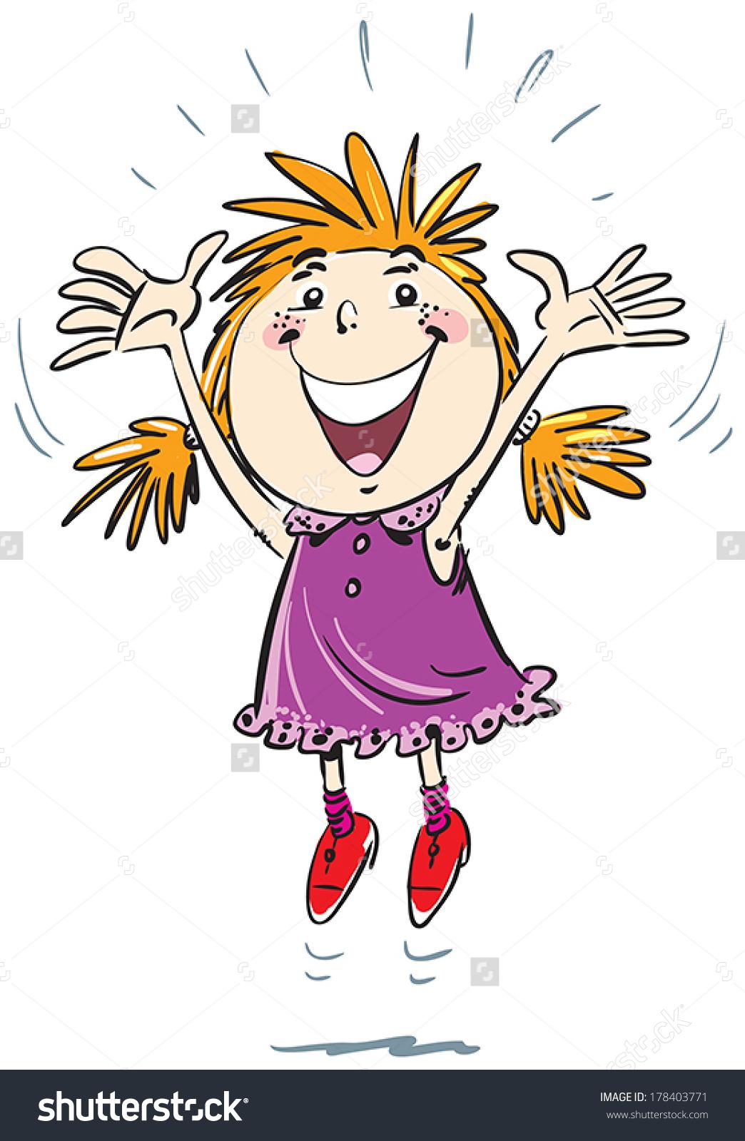 Joy clipart hop. Free girl jump cliparts