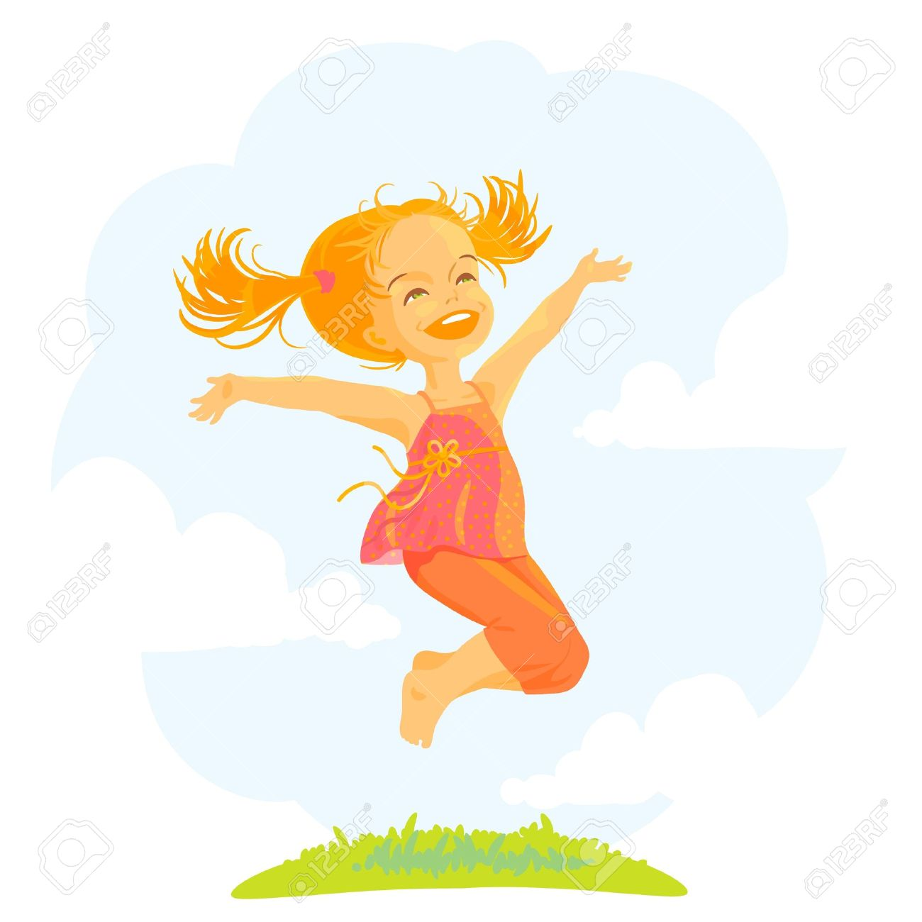 Sunny clipart woman. Free girl jump cliparts
