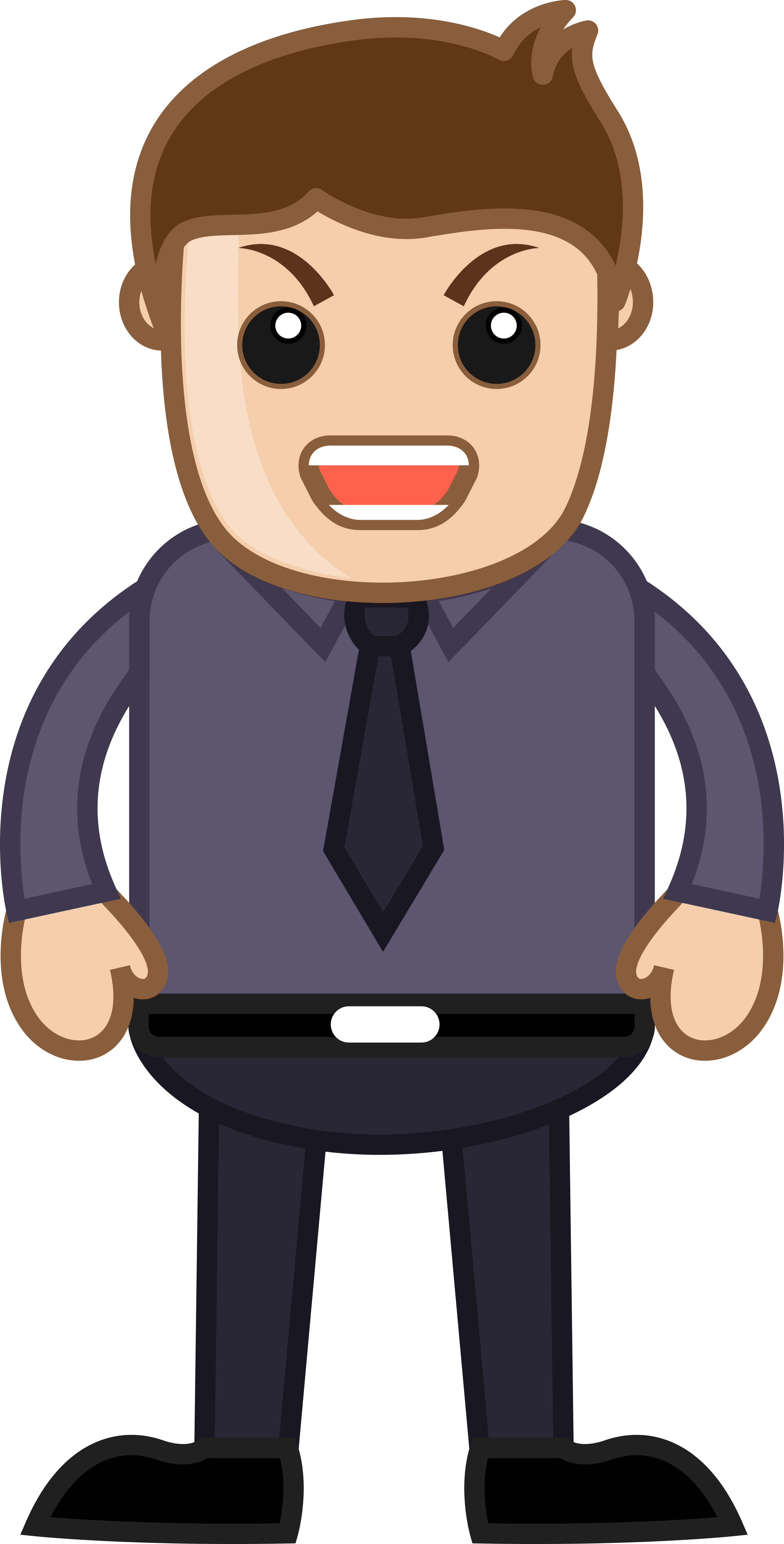 Angry man corporate cartoon. Working clipart office work