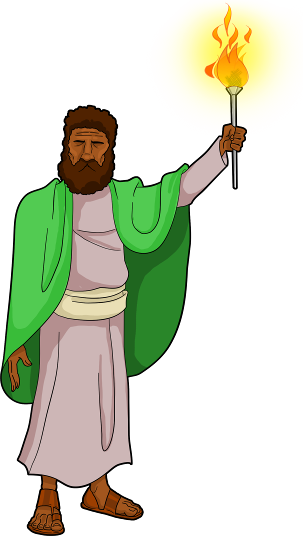 Israelite holder the resurrection. Torch clipart ancient