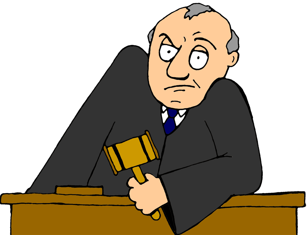 Contest judge . Criminal clipart cartoon