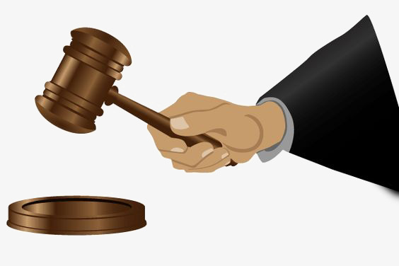 Court clipart judgment. Judge hammer the png