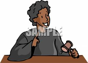 An african american with. Judge clipart