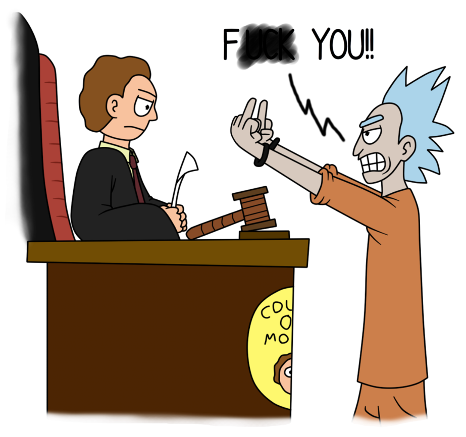 Defendant rick and morty. Judge clipart courtroom judge