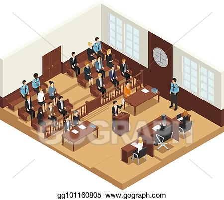 Vector stock law justice. Judge clipart criminal trial