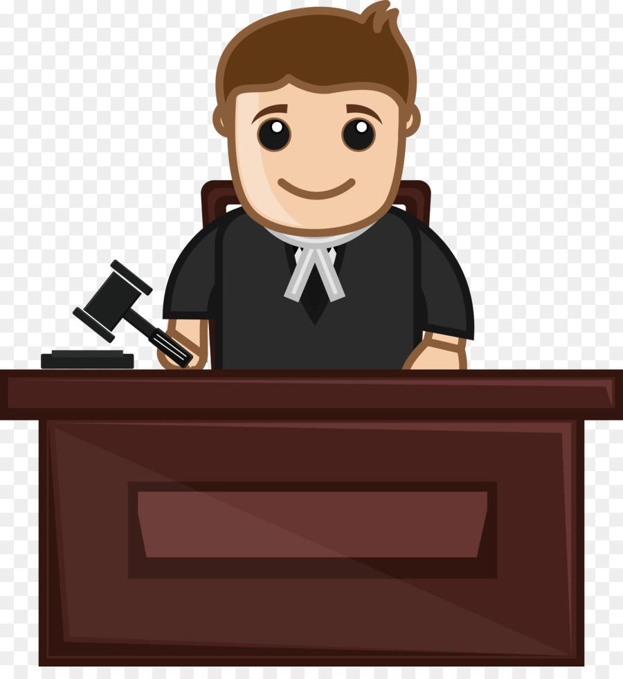 Cartoon background gavel communication. Judge clipart desk