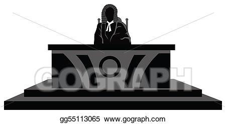 Stock illustration illustrations . Judge clipart desk