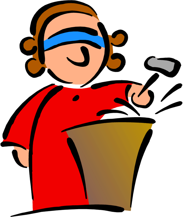 With blindfold standing after. Judge clipart female judge