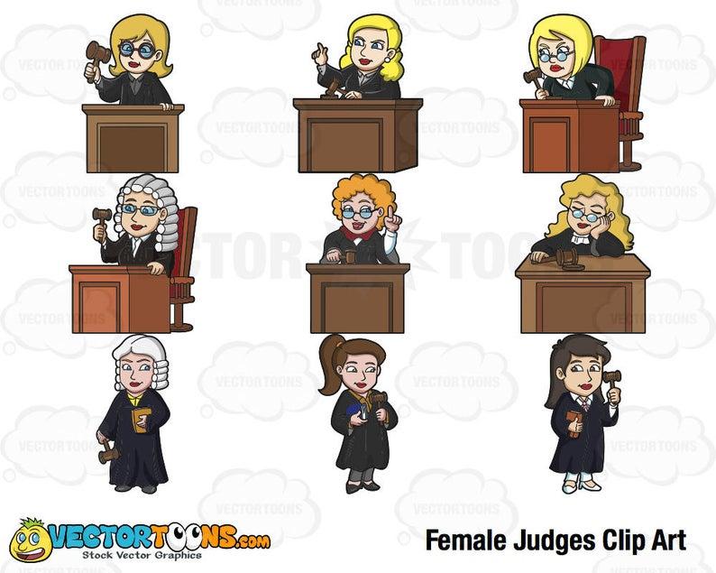 Judge clipart female judge. Judges clip art digital