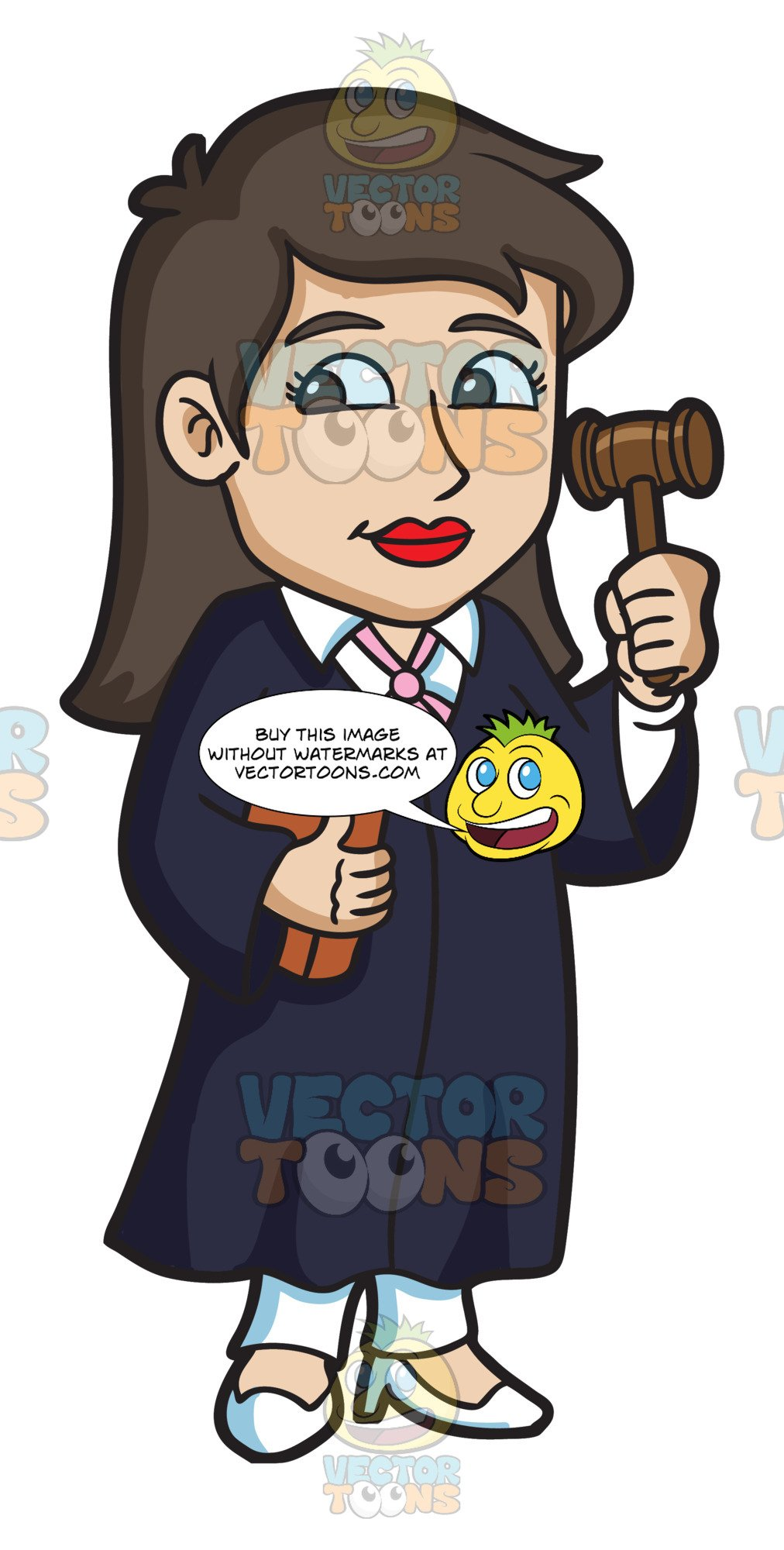 A holding gavel . Judge clipart female judge