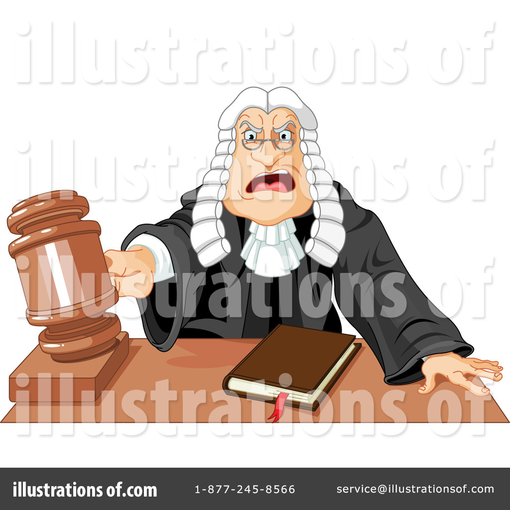 Illustration by pushkin . Judge clipart jugde
