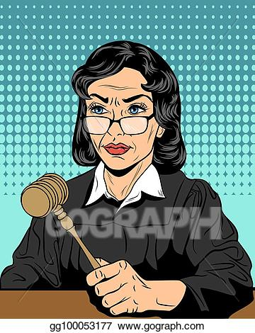 Clip art vector with. Judge clipart strict