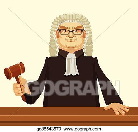 Judge clipart strict. Vector stock clip art