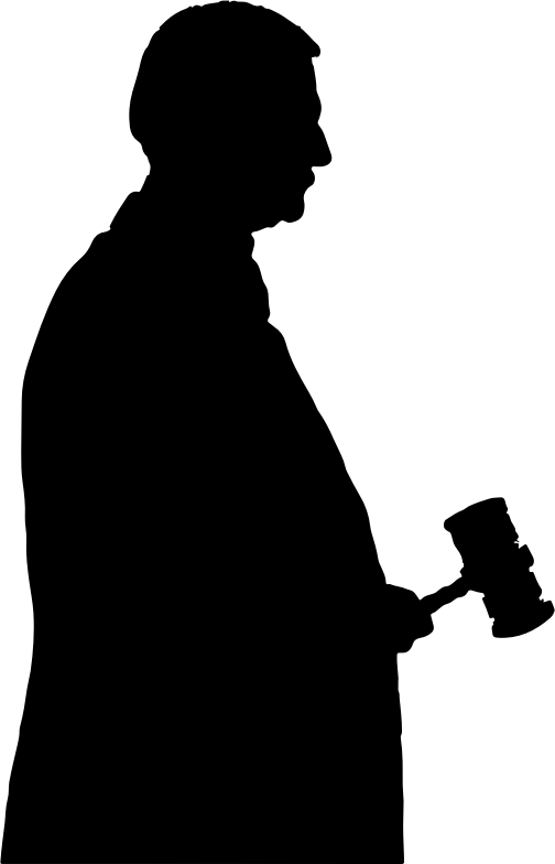 Judge clipart transparent background judge. With gavel silhouette medium