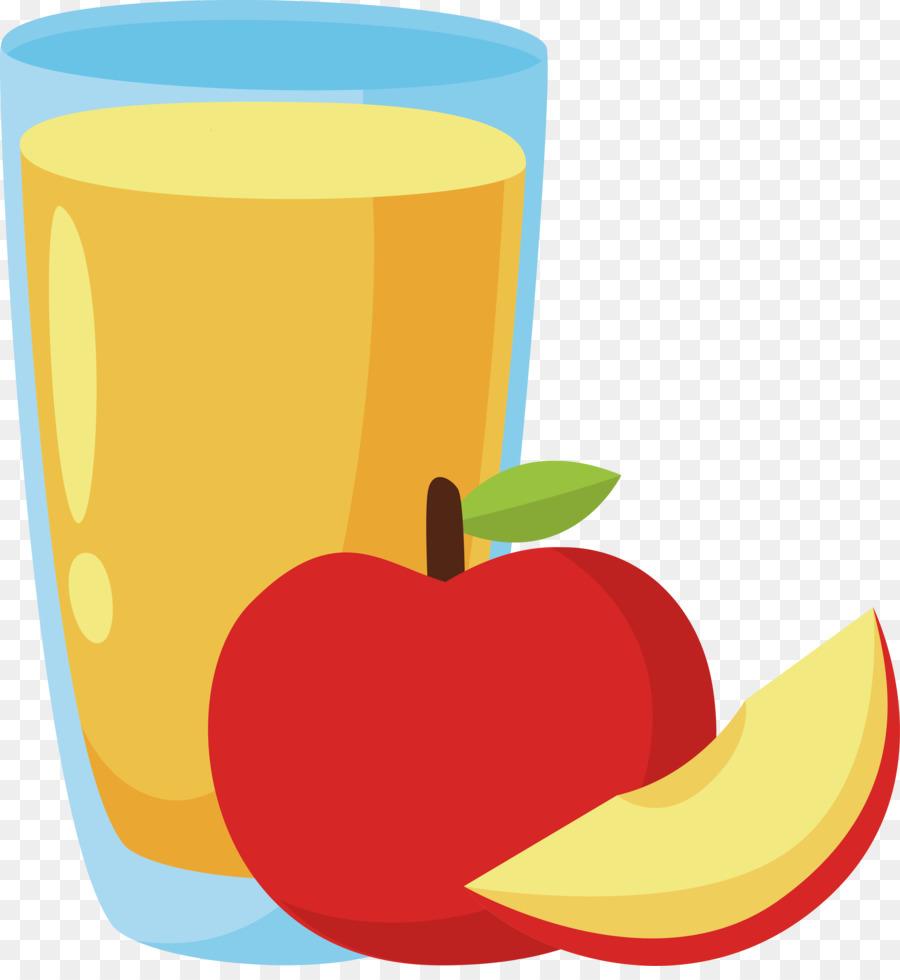 Juice clipart. Apple clip art illustration