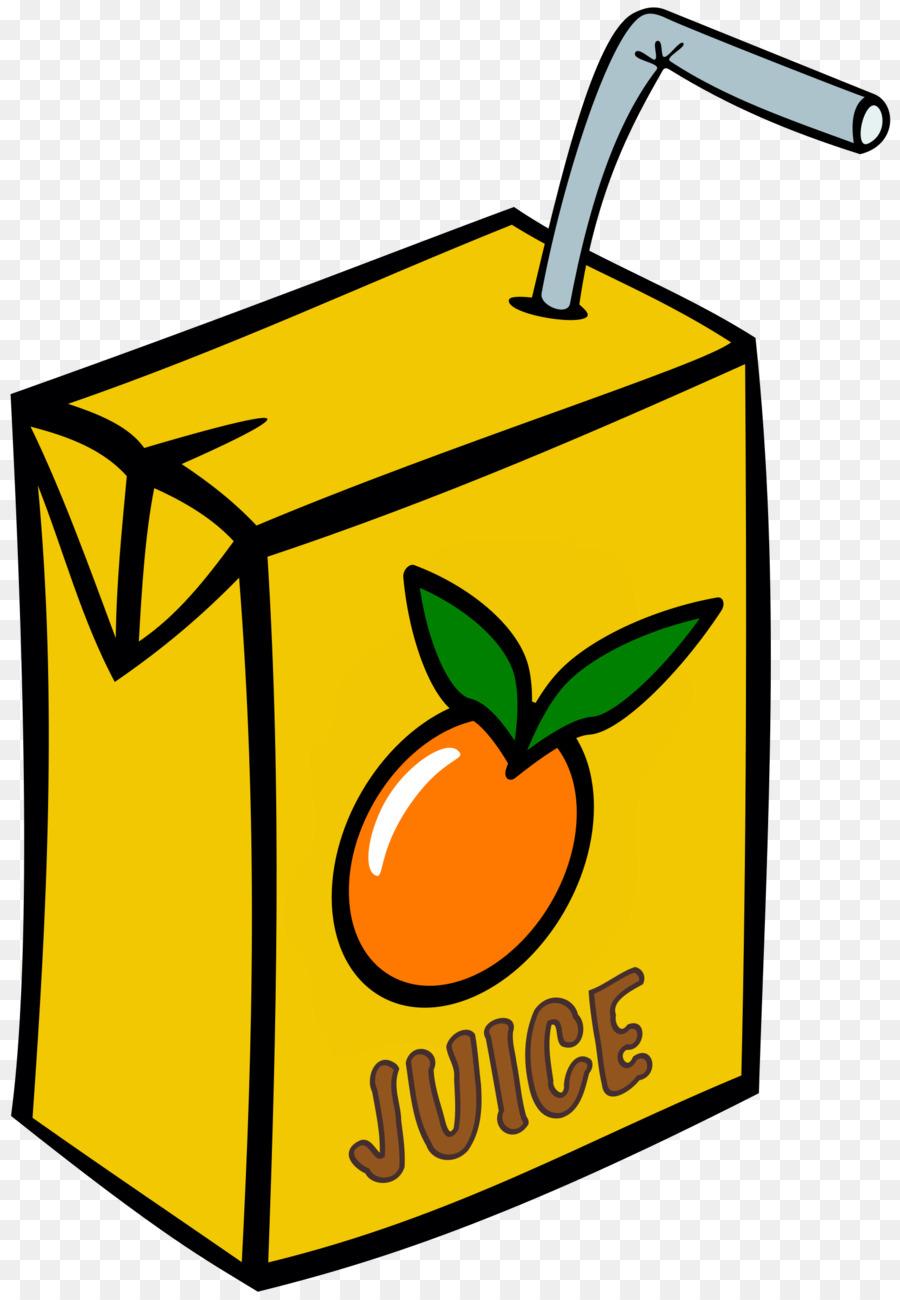 Fruit juice drink yellow. Drinks clipart box