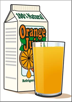 Clip art orange color. Juice clipart