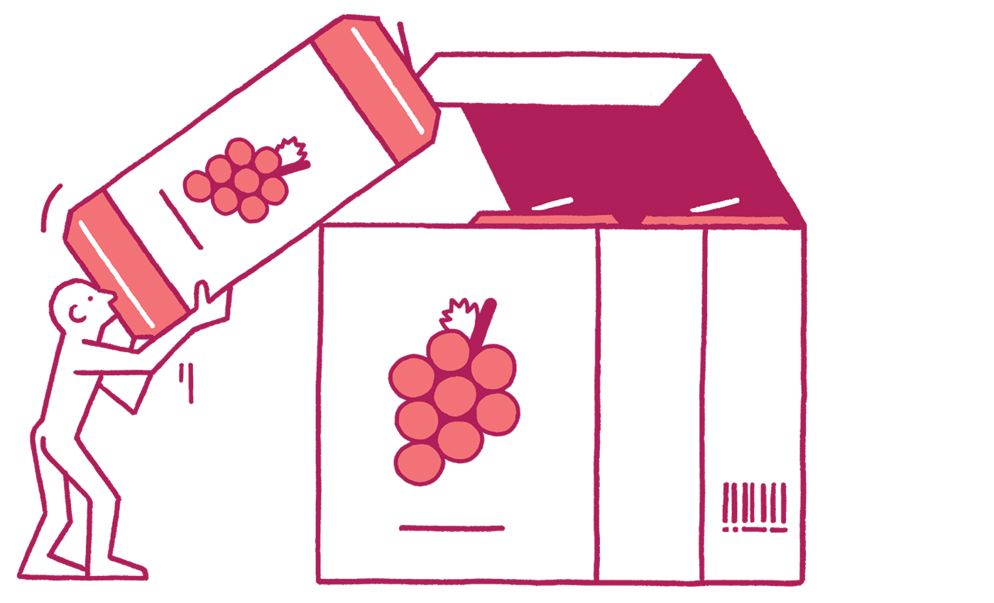 Wine of the times. Win clipart pink window