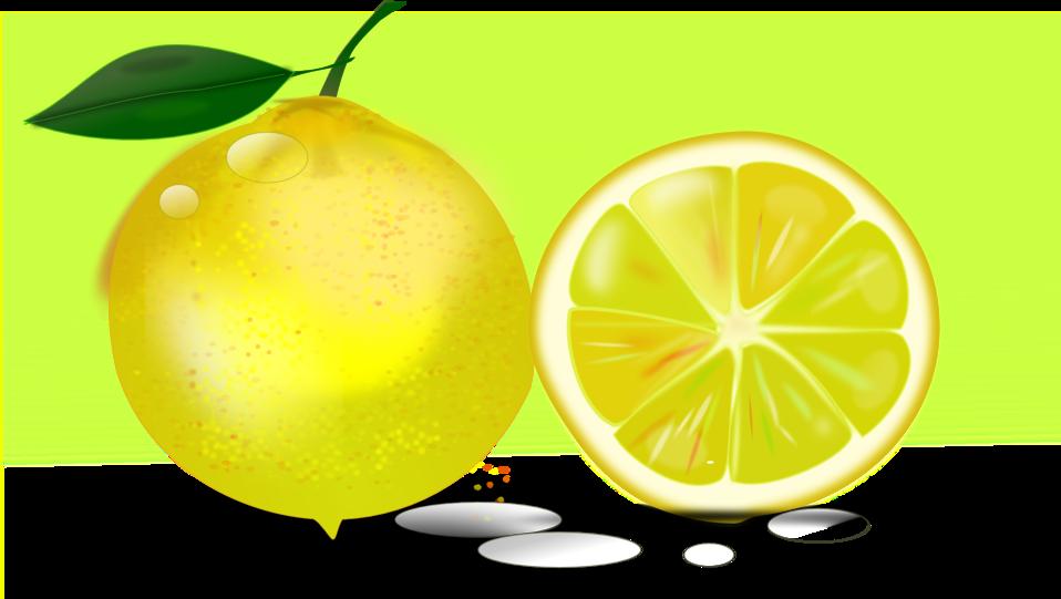 Lemons clipart citron. Public domain clip art