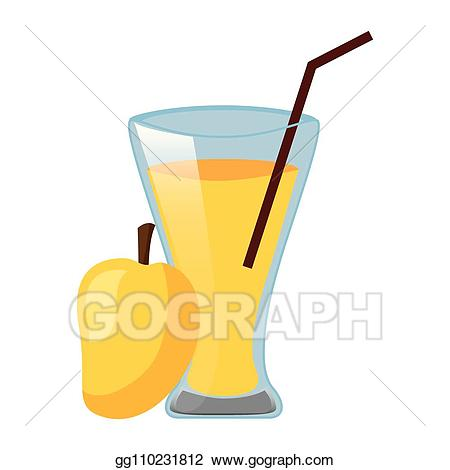 Vector art cup with. Mango clipart mango juice