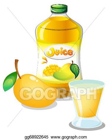 Mango clipart mango juice. Clip art vector drink