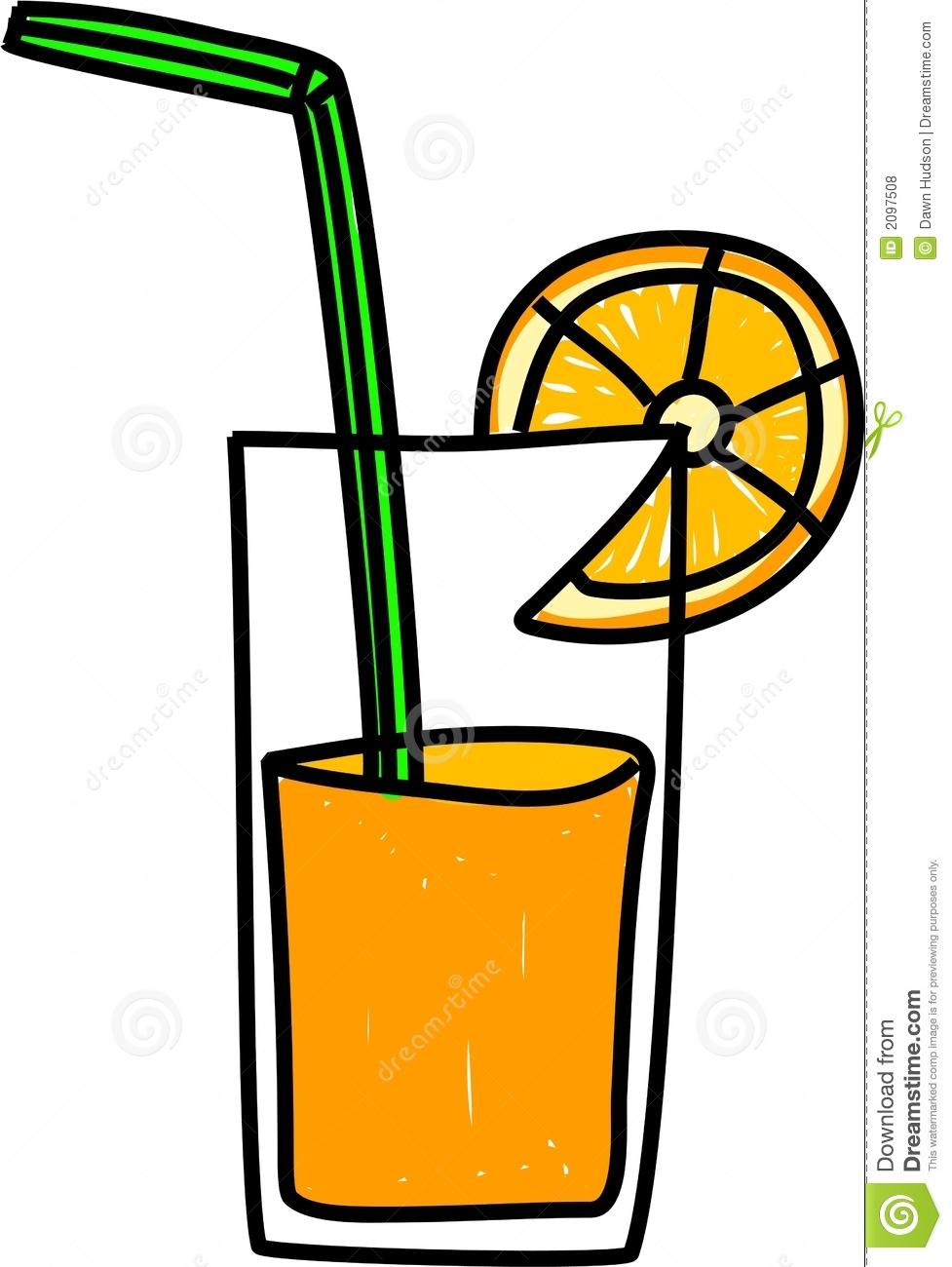 Glass of orange panda. Juice clipart oren
