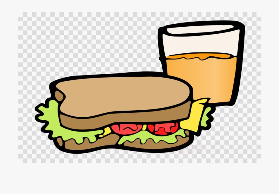 Sandwich clipart juice. Ham food transparent with