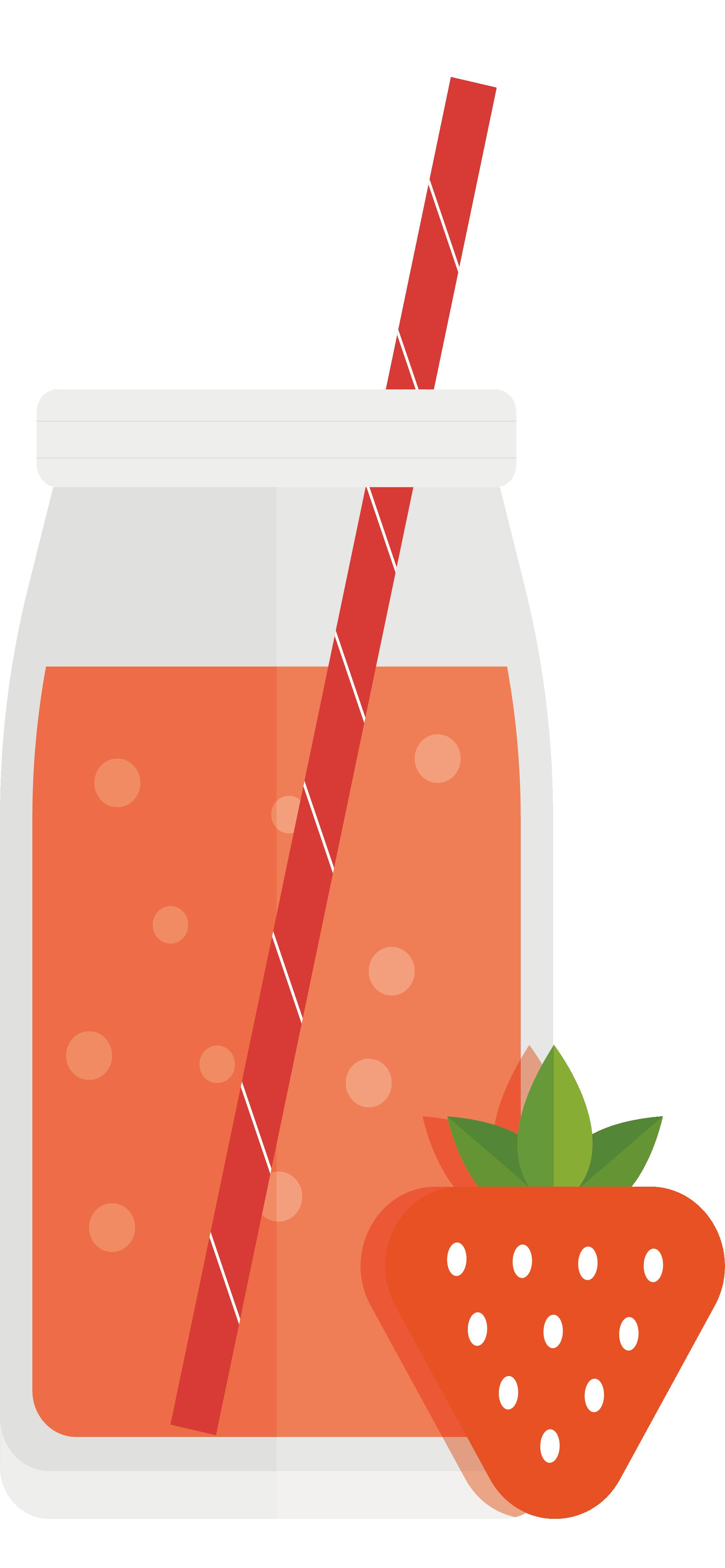 Aedmaasikas design. Juice clipart strawberry juice