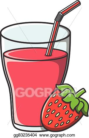 Vector stock doodle clip. Juice clipart strawberry juice