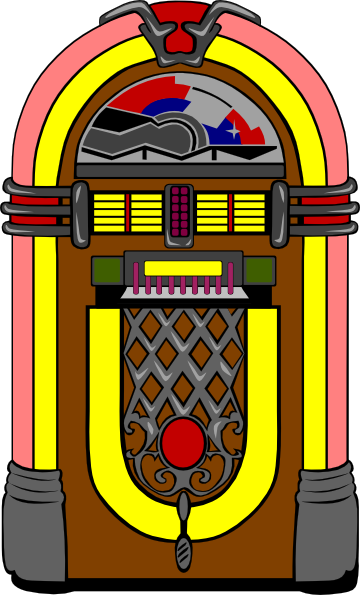 Jukebox clipart. Fifties clip art at