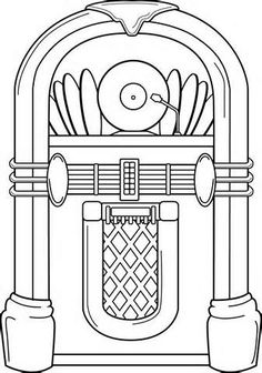 Free cliparts download clip. Jukebox clipart black and white