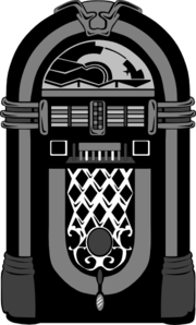 Jukebox clipart black and white. Nubbs clip art at