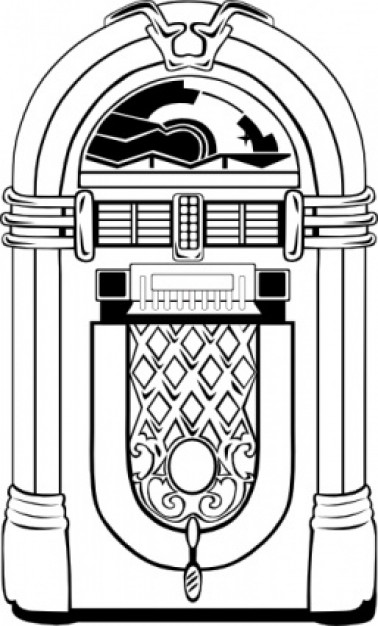 Free download clip art. Jukebox clipart black and white