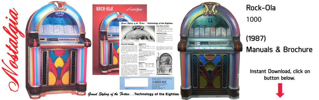 Jukebox clipart nostalgia. Rock ola manuals literature