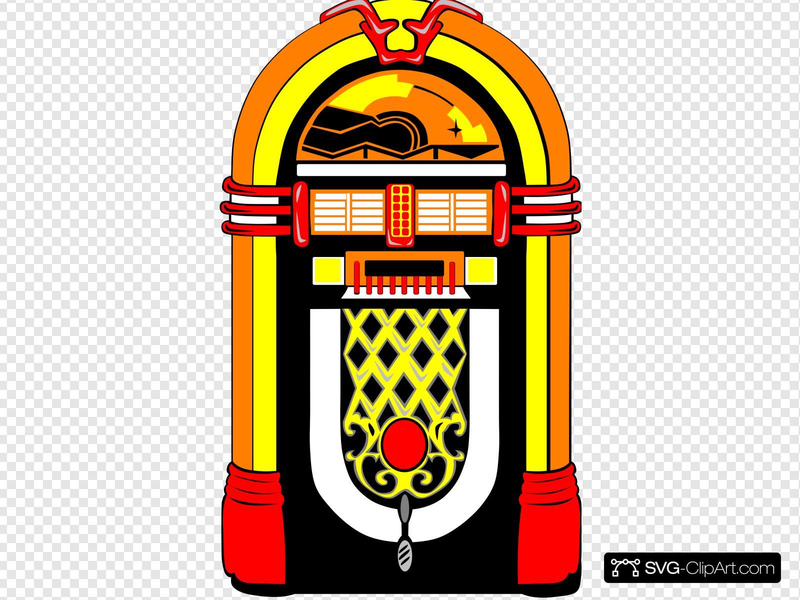 Nostalgic clip art icon. Jukebox clipart nostalgia